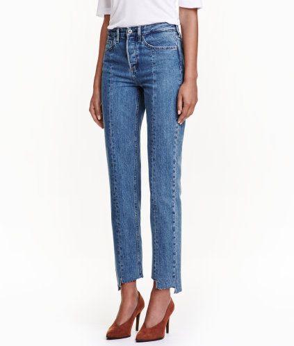 neuartiger Stil 2019 Ausverkauf neuesten Stil von 2019 Straight High Ankle Jeans | Blau | Damen | H&M DE | coveting ...