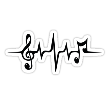 Music Pulse Heartbeat Notes Clef Frequency Wave Sound Festival Sticker By Anne Mathiasz In 2021 Music Notes Tattoo Music Heart Tattoo Music Symbol Tattoo