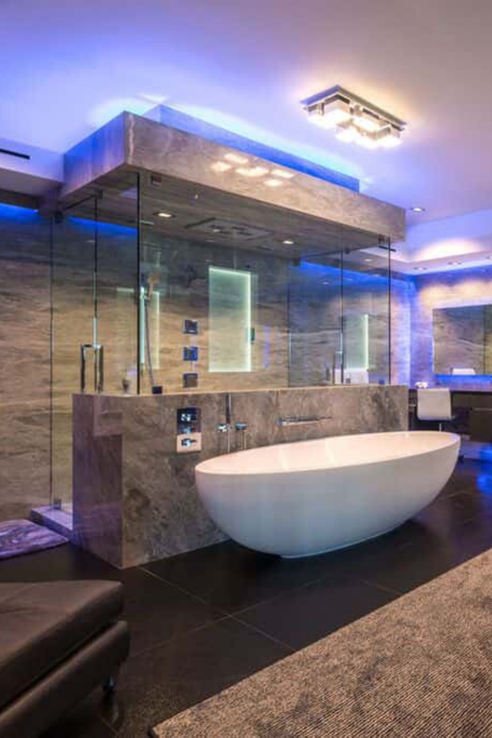 Photo of Luxury Master Bathroom Interior Design Inside an Awesome 31,000 Sq. Ft. Los Angeles Mansion