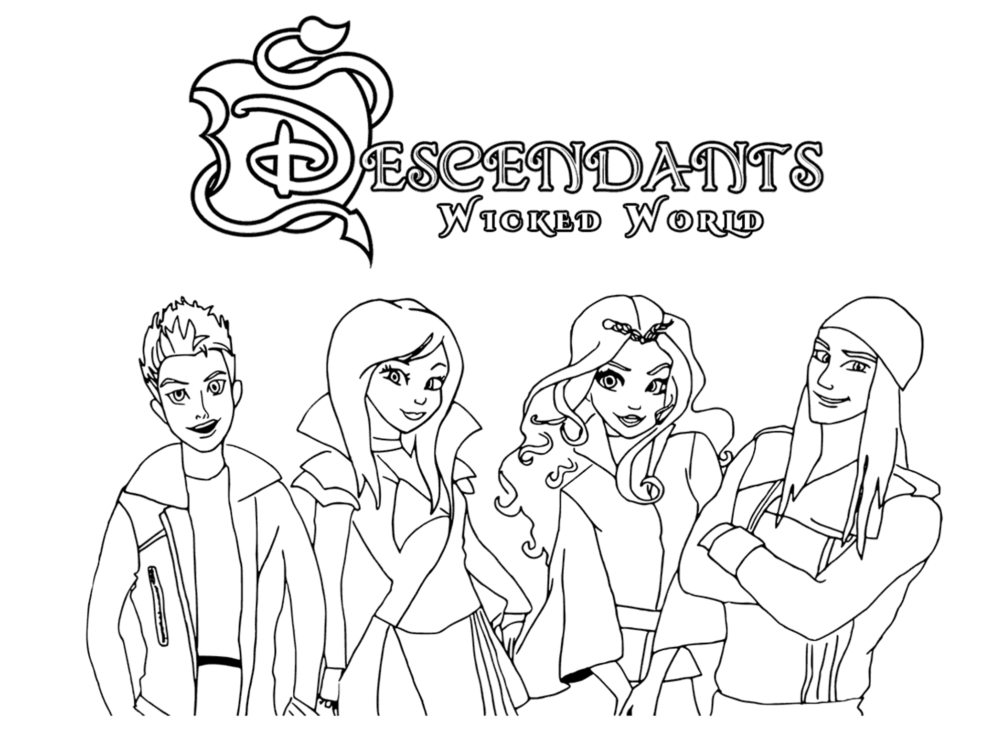 The Descendants Disney Coloriage The Descendants Coloriages