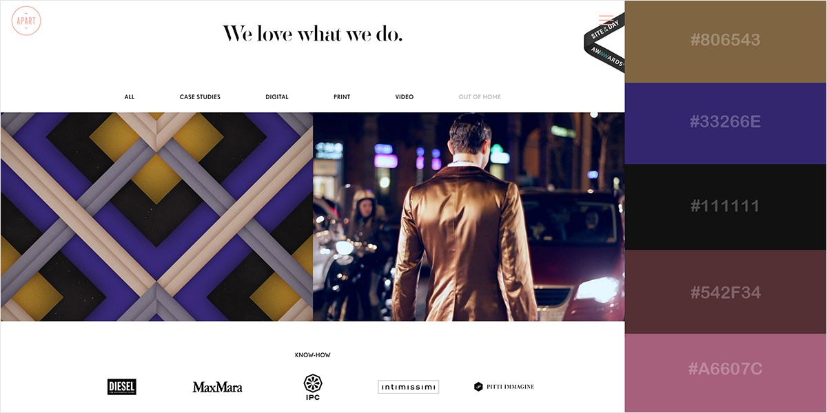 50 Gorgeous Color Schemes From Award Winning Websites Website Color Schemes Color Schemes Award Winning Websites