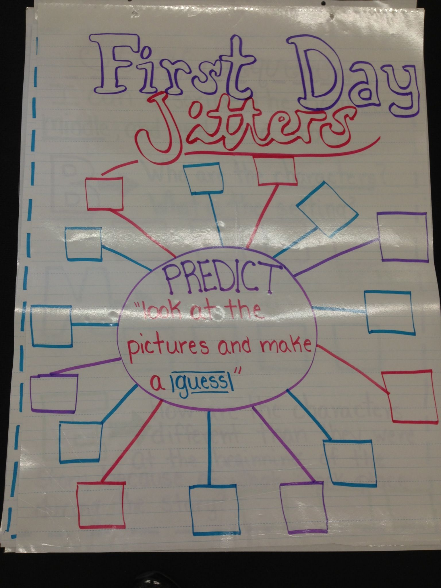 First Day Jitters Anchor Chart