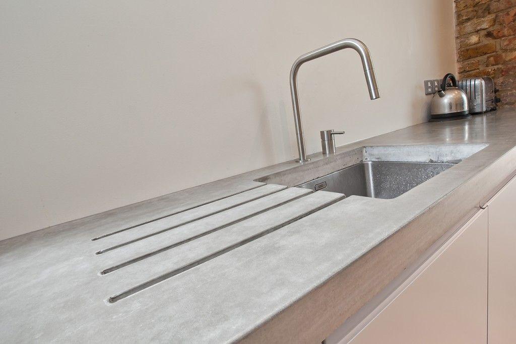 polished concrete worktop google search kitchen. Black Bedroom Furniture Sets. Home Design Ideas