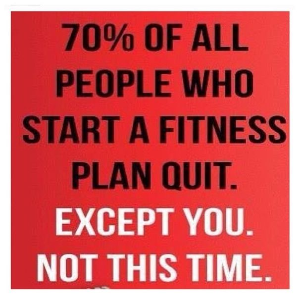 Beau 70% Of People Who Start A Fitness Plan Quit. Except You. Not This