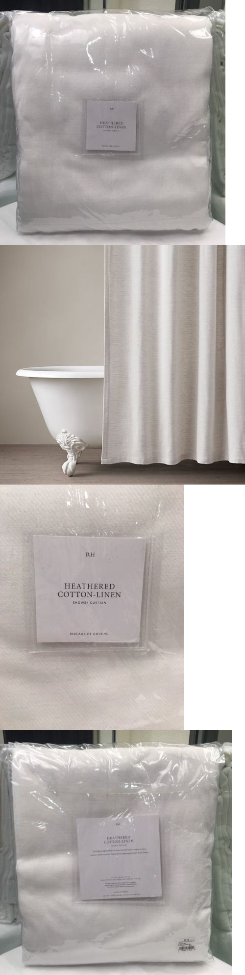 Shower Curtains 20441: Restoration Hardware Heathered Cotton Linen Shower  Curtain X Long White
