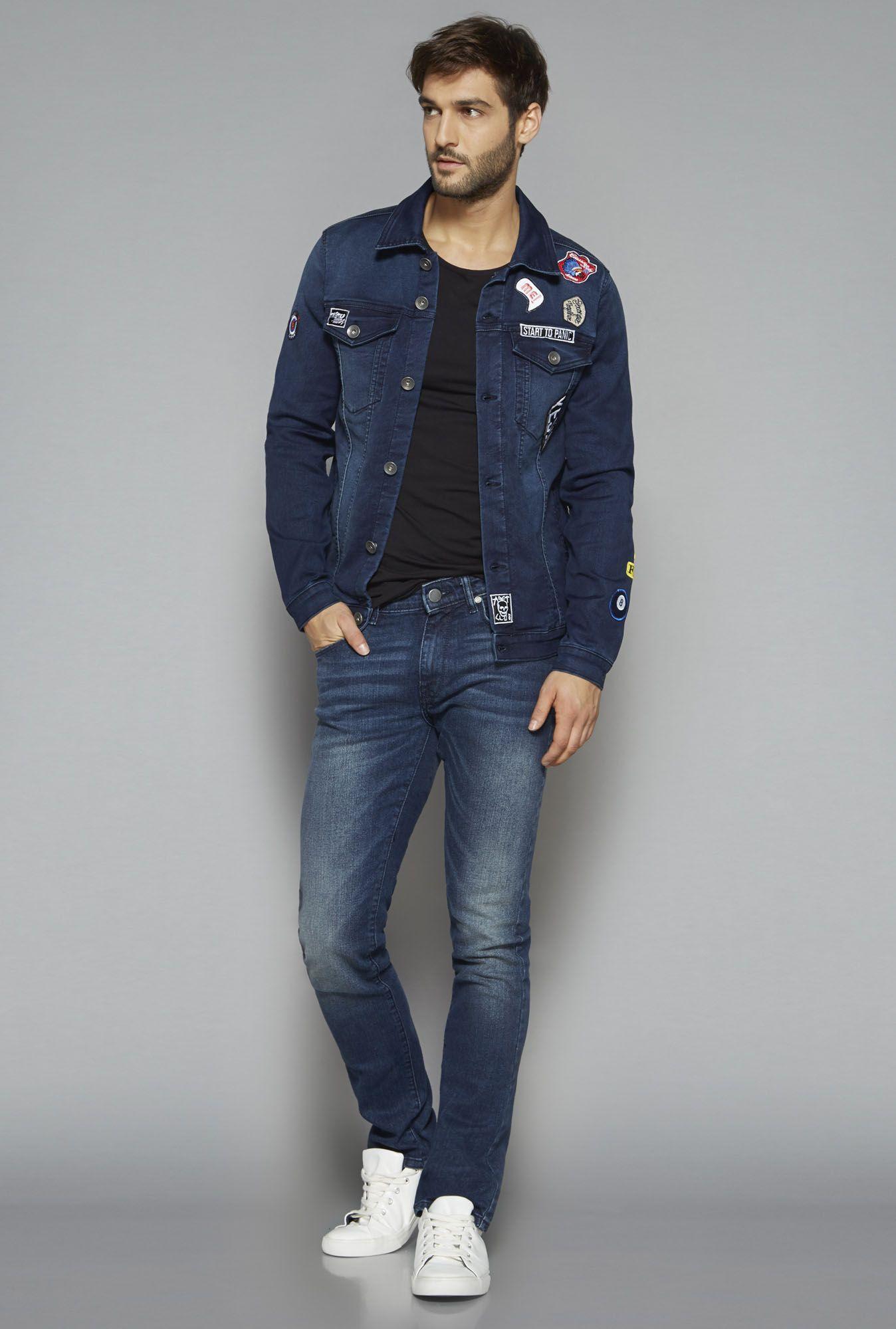 953617cb2 Nuon by Westside Blue Slim Fit Jacket Denim Button Up