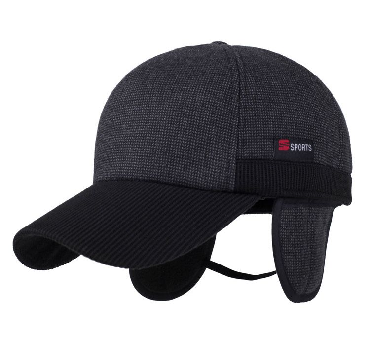 37ec94a1baf  AETRENDS  Winter Baseball Cap Men Russian Hat with Ears Warm Woolen Hats  for Men Z-3860