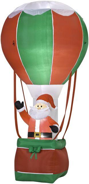 Santa In Hot Air Balloon Outdoor