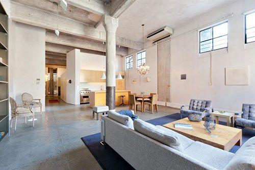 Industriele Loft Woonkamer : Industriele woonkamer loft new york industrueel