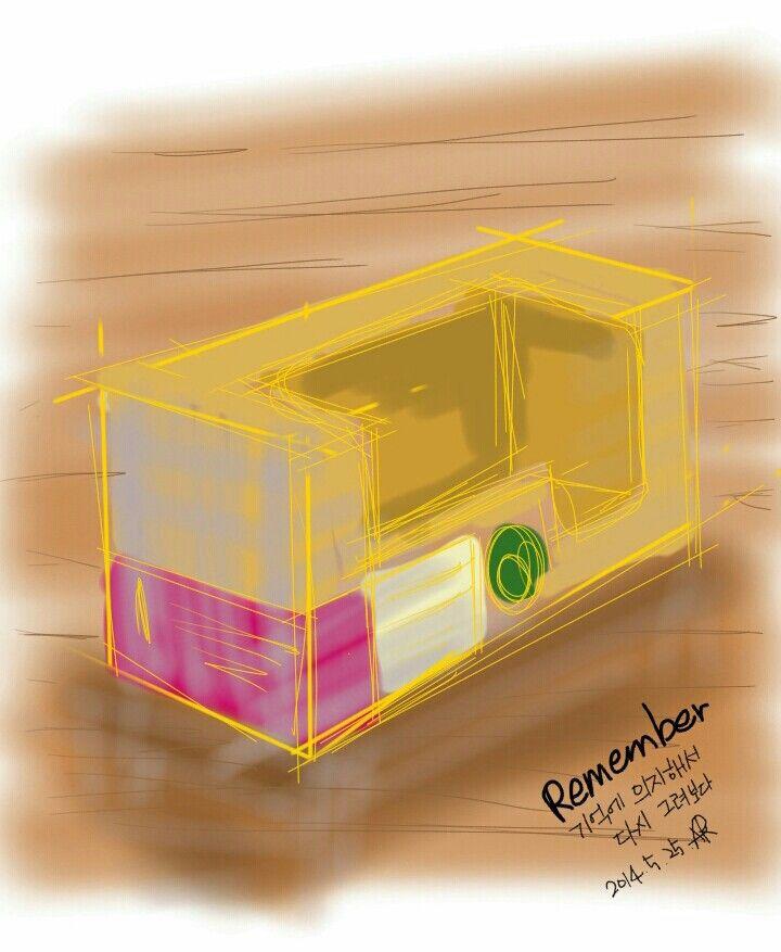 집에 돌아와서 그린 그림 이제 보니 명암따위 무시하고 멋대로 그렸네 ㅎㅎ - SketchBookX