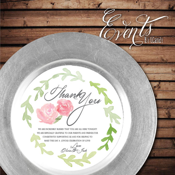 Hydrangea Custom Printed Menus that fit on a by Eventsbyicandy