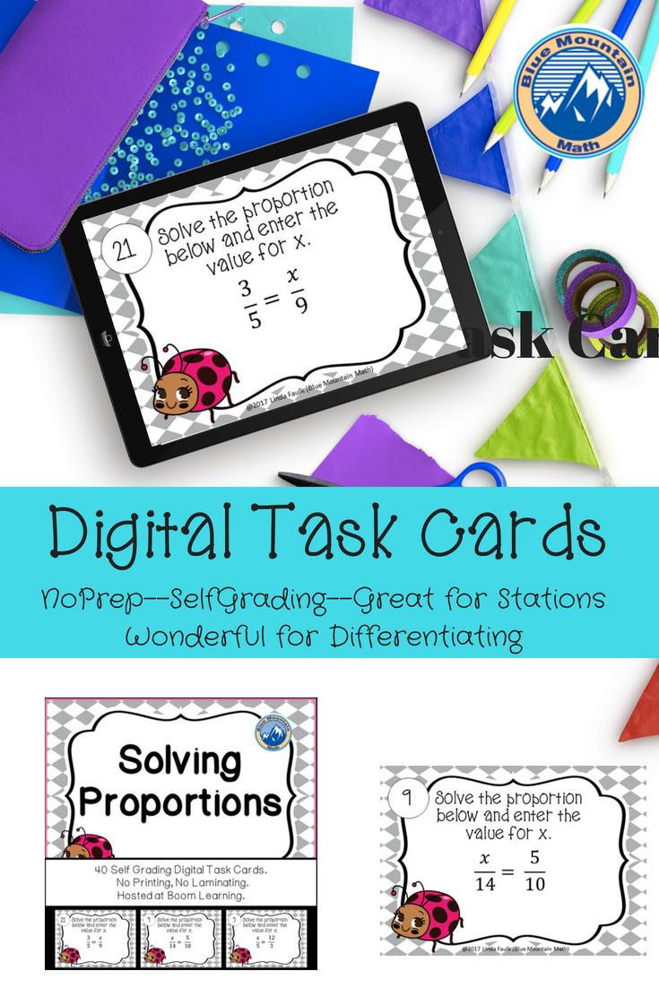 Solving Proportions Boom Cards Digital Task Cards Task Cards Digital Task Cards Common Core Math Activities [ 1102 x 735 Pixel ]