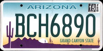 The official Arizona state license plate  | License Plates