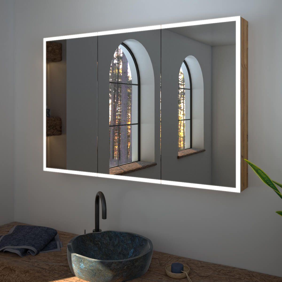 Spiegelschrank Nach Mass Credo Kompakter Sicherer Stauraum Ringsum Laufende Led Beleuchtung Spiegelschrank Spiegelschrank Beleuchtung Spiegelschrank Bad