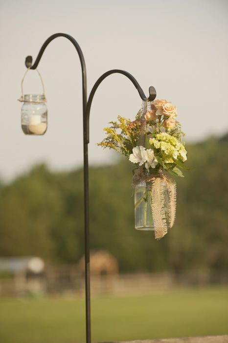 mason jars for flowers and candles