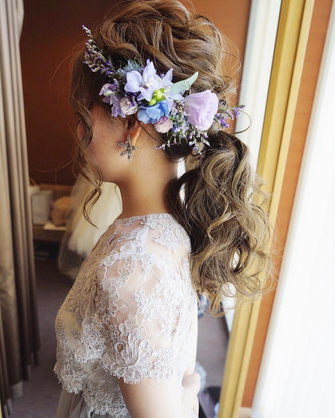 生花って素敵 お花のヘッドパーツについてブログに書いてますので おヒマな時にご覧ください ブライダル ブライダル