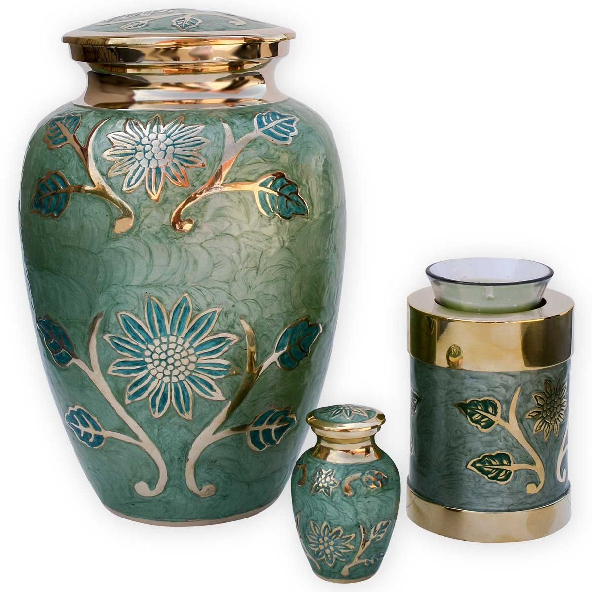 Cremation Urns Beautiful Urns for Ashes Green garden