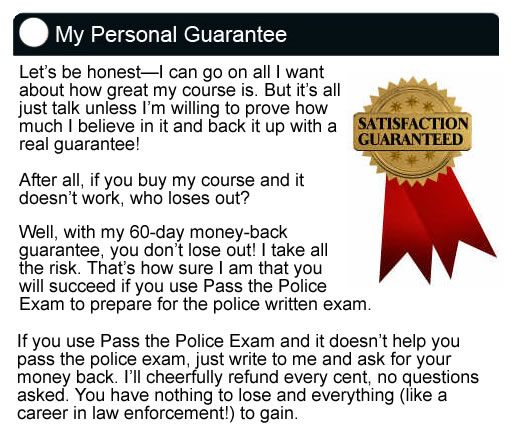 Learn How To Pass The Police Officer Test, Using Our Step-By