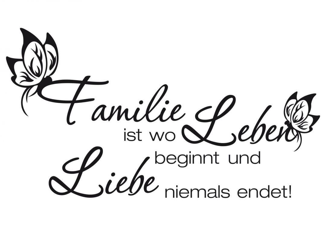Familie ist, wo Leben beginnt und Liebe niemals endet