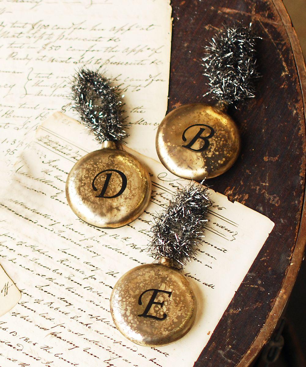 Christmas Decor Initial Ornaments