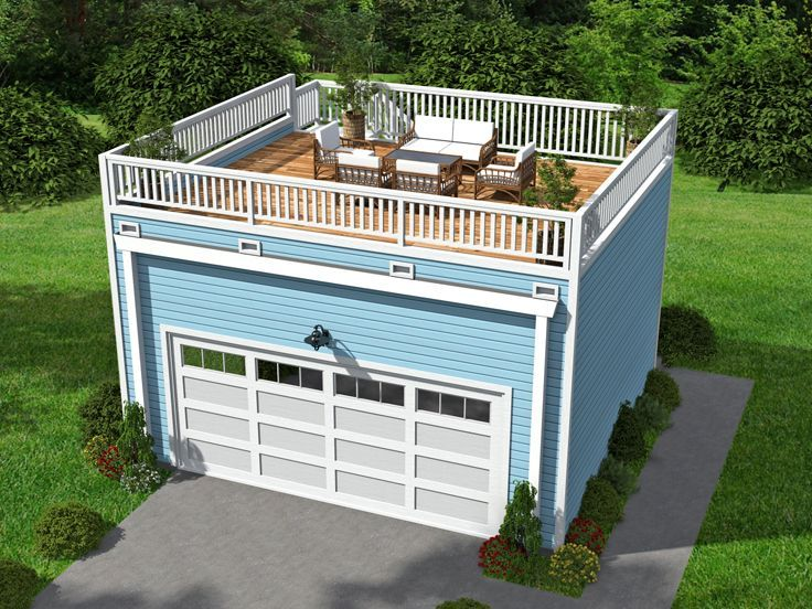 062g 0072 2 car garage plan with mezzanine 2 car garage for Garage mezzanine ideas