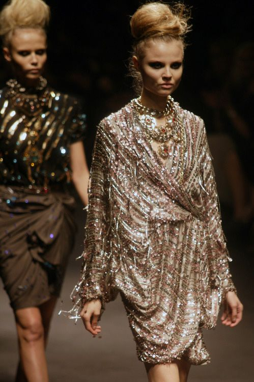 Magdalena shines in the Grecian gown...Very Lanvin...I love....x