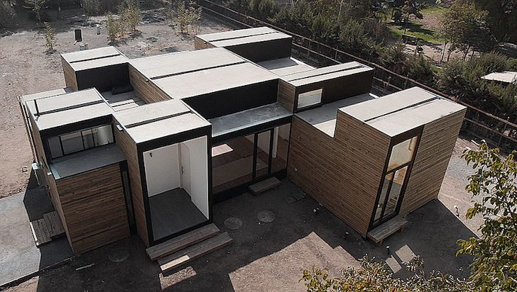 Energy-efficient Casa SIP m3 house is made from stackable prefab - cout agrandissement maison 20m2