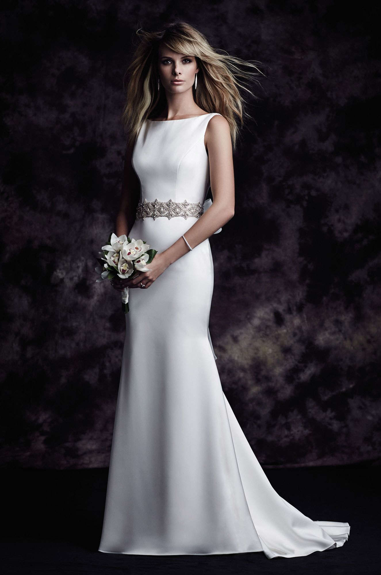 Satin Bateau Wedding Dress Style 4614 Paloma Blanca Bateau Wedding Dress Wedding Dresses Kleinfeld Fit And Flare Wedding Dress [ 2000 x 1325 Pixel ]