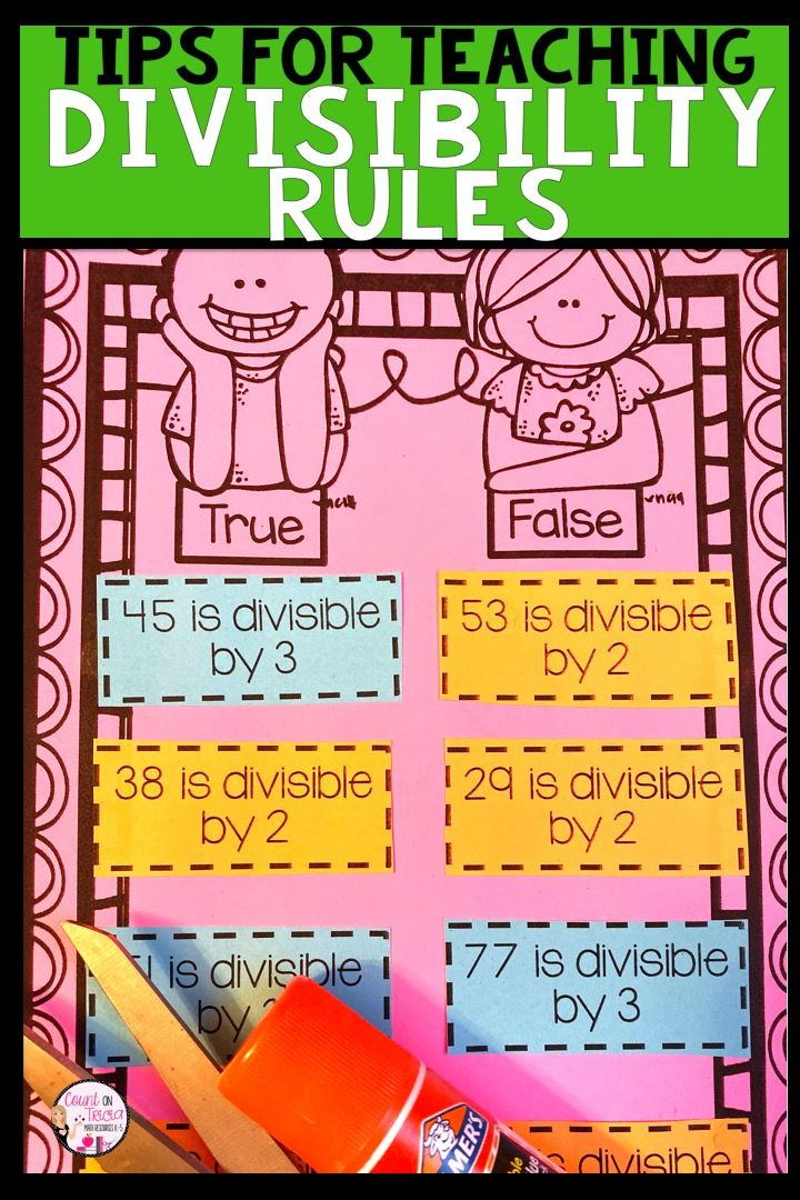 Fun Ways to Teach Divisibility Rules with a Freebie