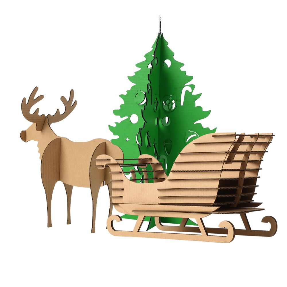 Niños Craf Cartón BRICOLAJE Decoración Del Árbol de Navidad ...
