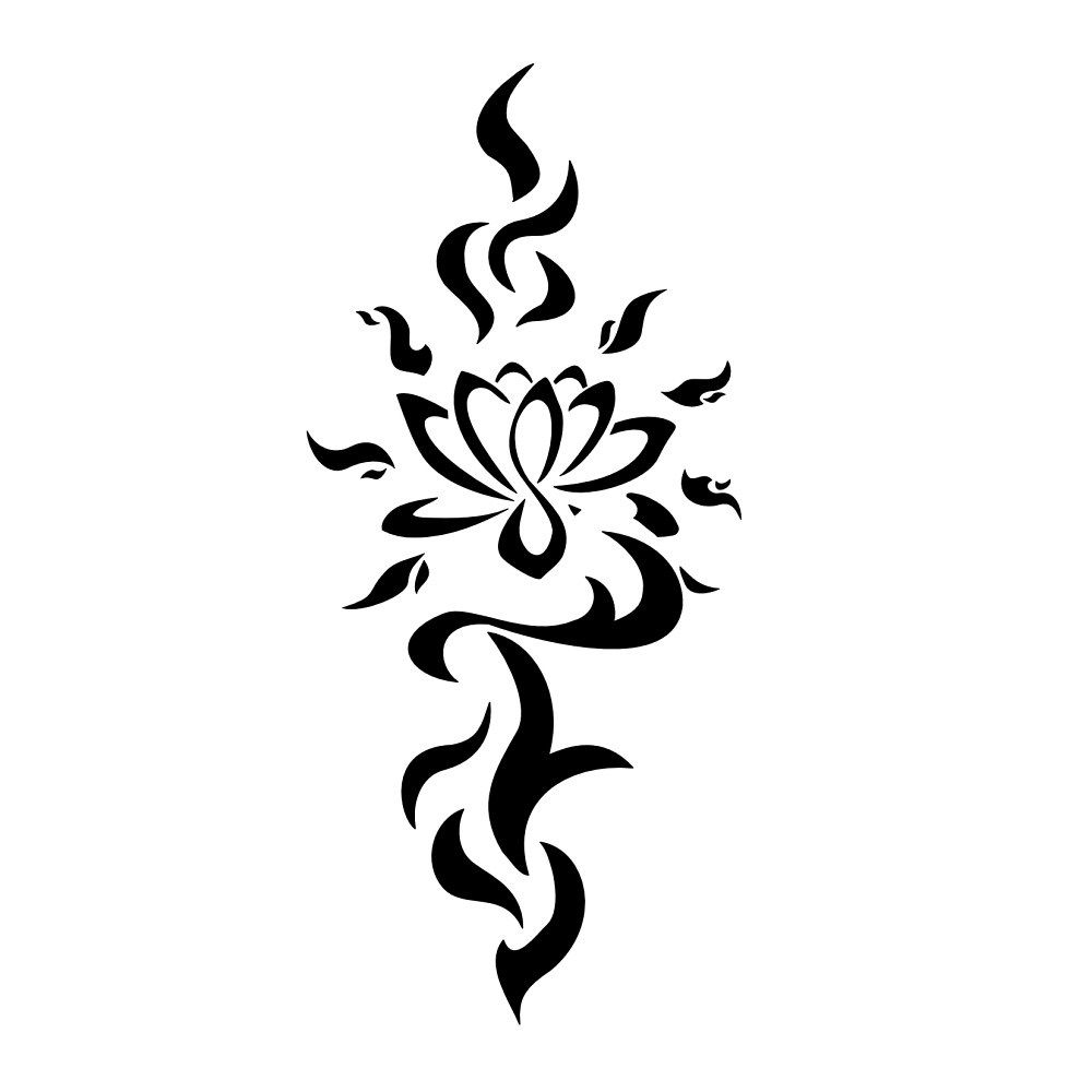 Lotus Flower Tribal Tattoo Designs Floweryweb Tats Pinterest