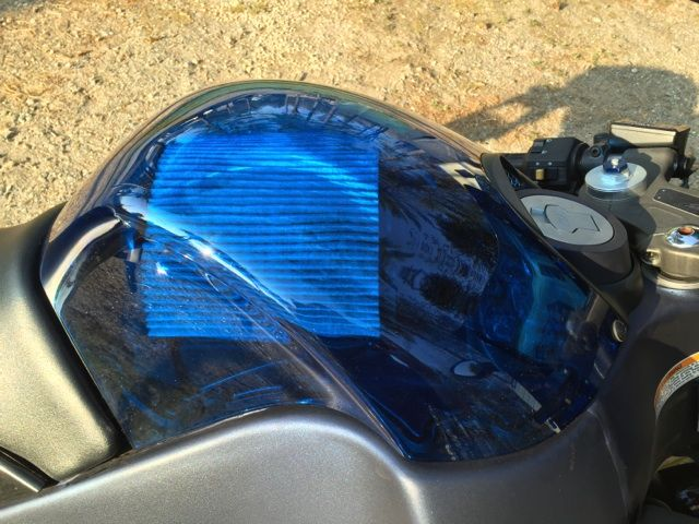 Hero Blue clear air box cover added to my 1125r | Buell