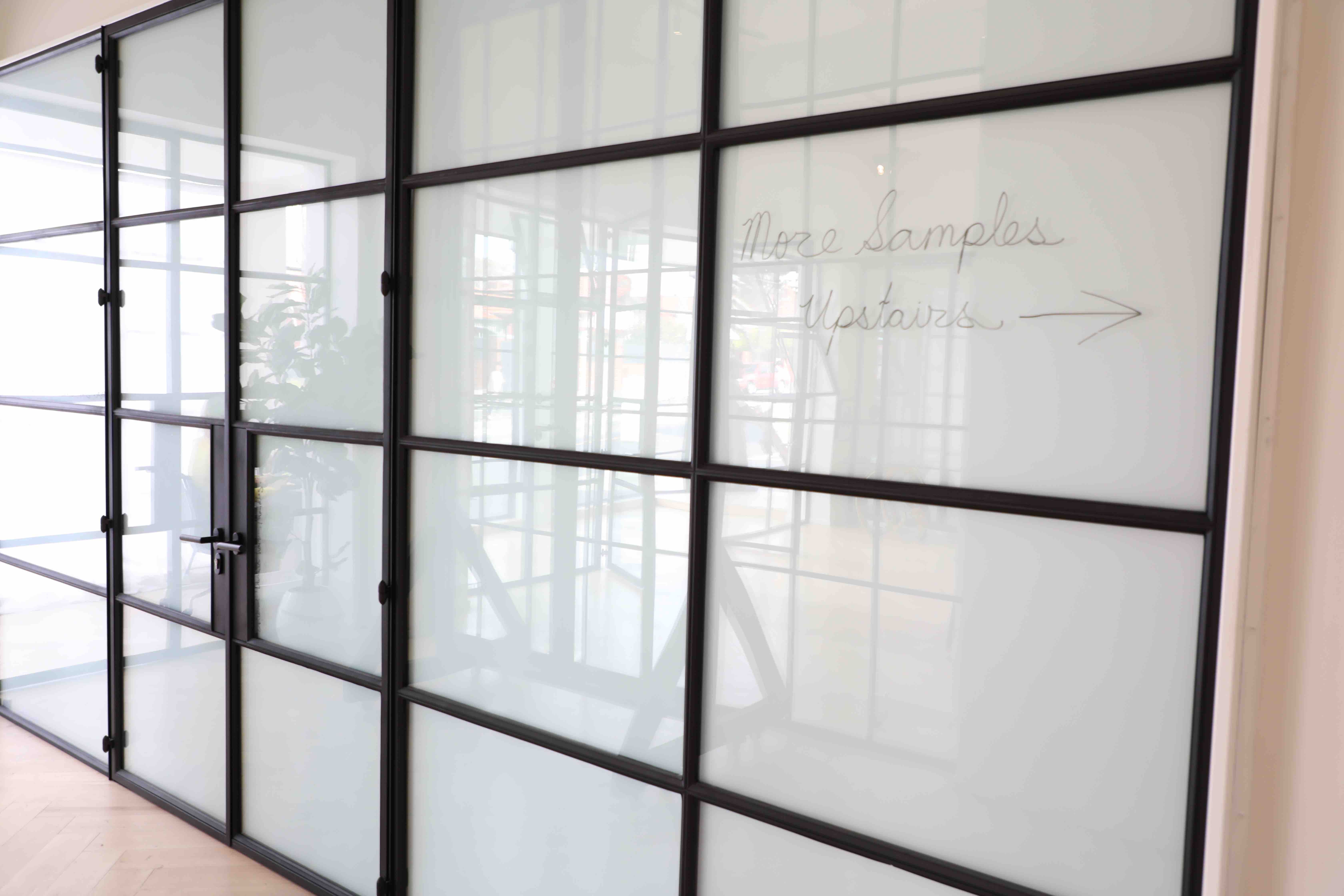 Fit Our Steel Frame Windows And Doors With Frosted Glass To Create