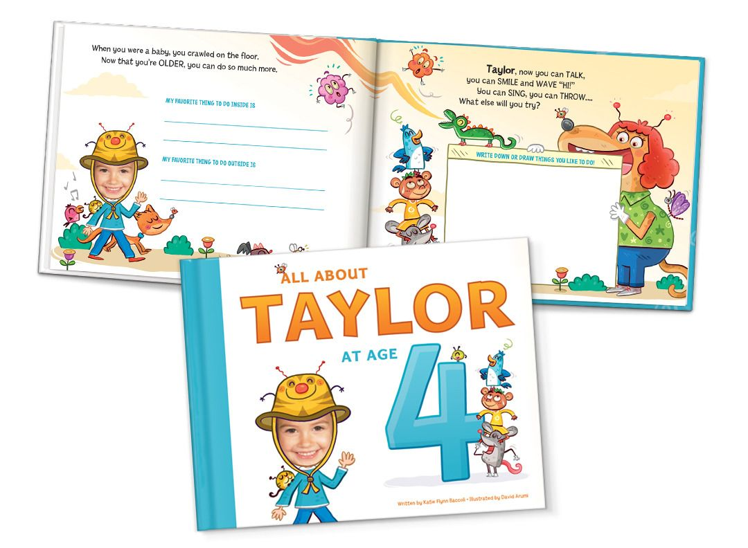 cbe0bb09663 All About Me at My Age Personalized Storybook for Children - 2-8, Years
