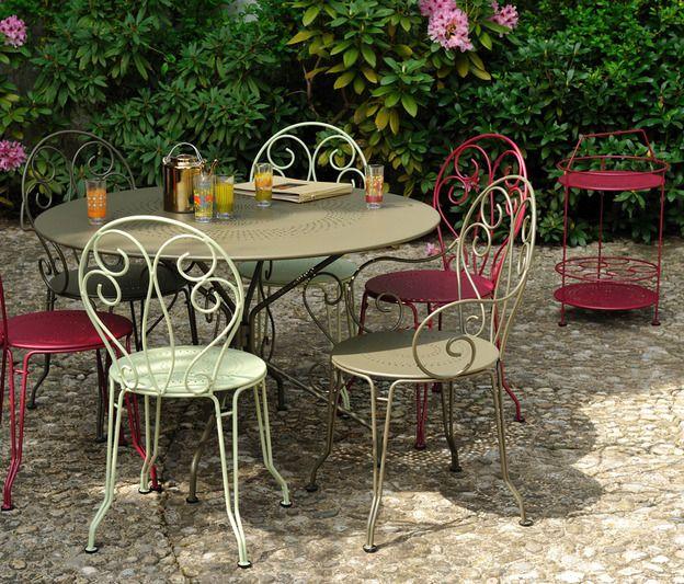 Chaise Montmartre, chaise en métal, mobilier de jardin ...