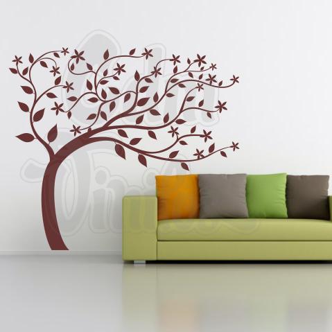 Vinilo decorativo para pared rbol del viento ramas y - Vinilos de arboles ...