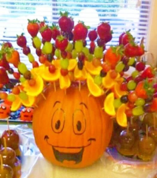 Edible Decorations for Halloween Tables, Fruits and Vegetables Offering Quick, Healthy Halloween Ideas