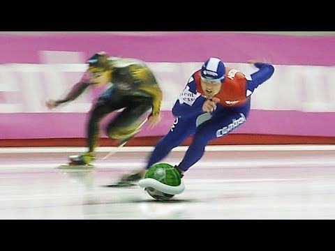 Olympic 'Mario Kart' Edition of the Men's 500m Speed Skating Finals in Sochi 2014 Winter Olympics