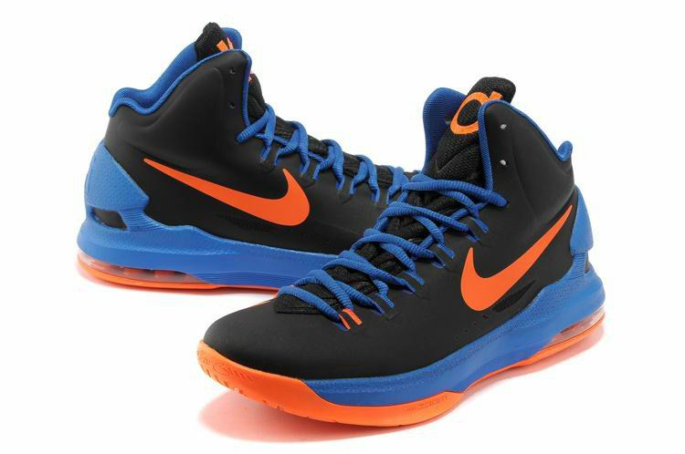outlet store 2b2be 42fa1 Nike KD V Really Cheap OKC Away Black Photo Blue Team Orange
