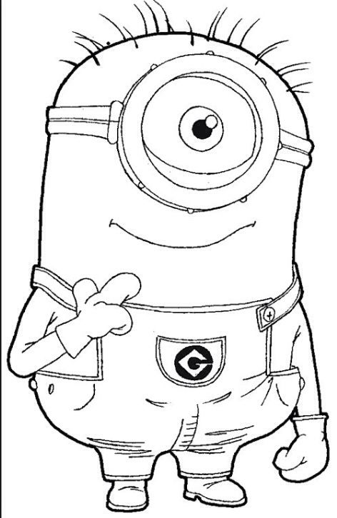 Who, Me? - new minions coloring pages images