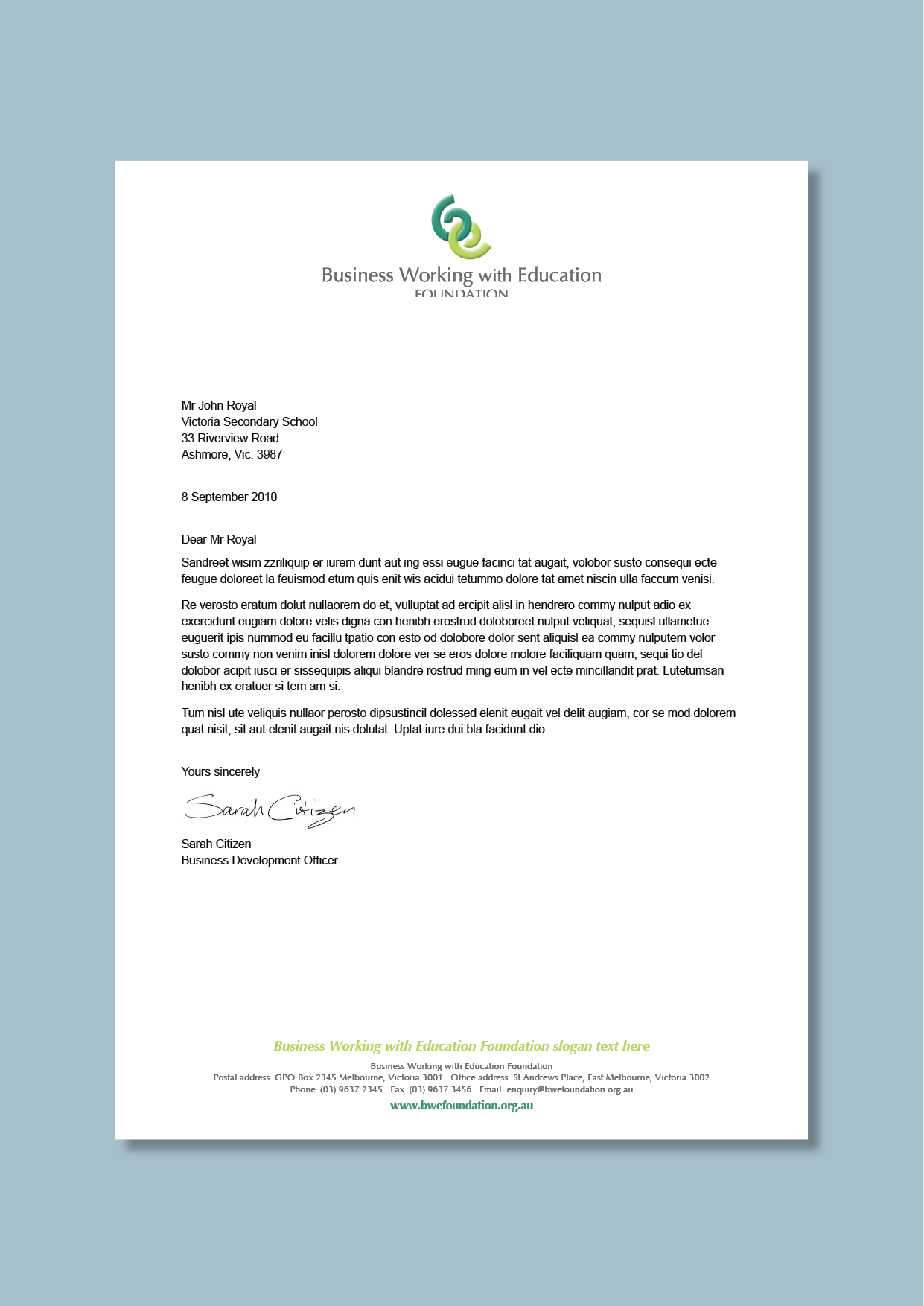 business and education partnerships consultancy letterhead concept cordestra word letterheads