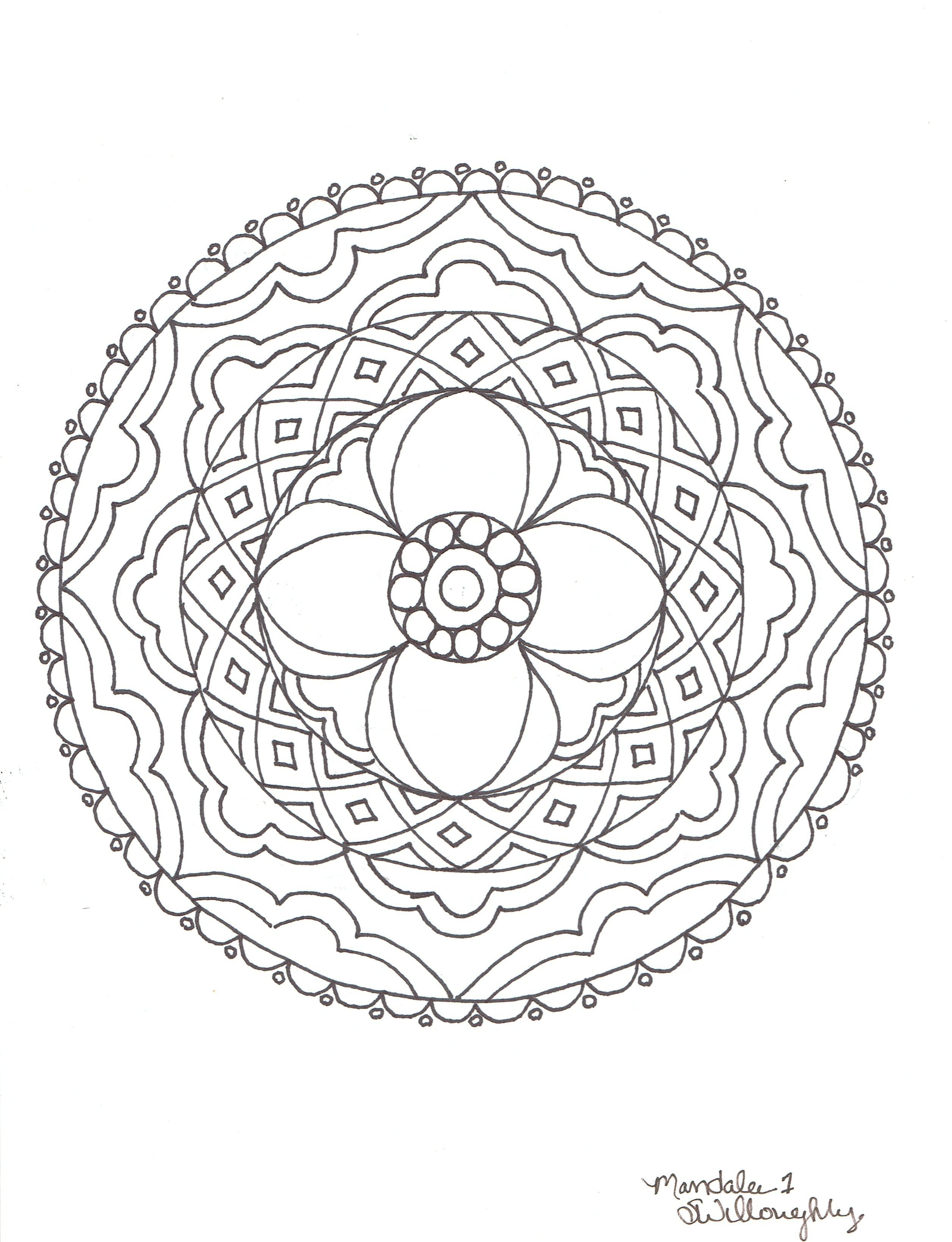 Mandala coloring page by SW | Mandalas | Pinterest | Mandalas ...