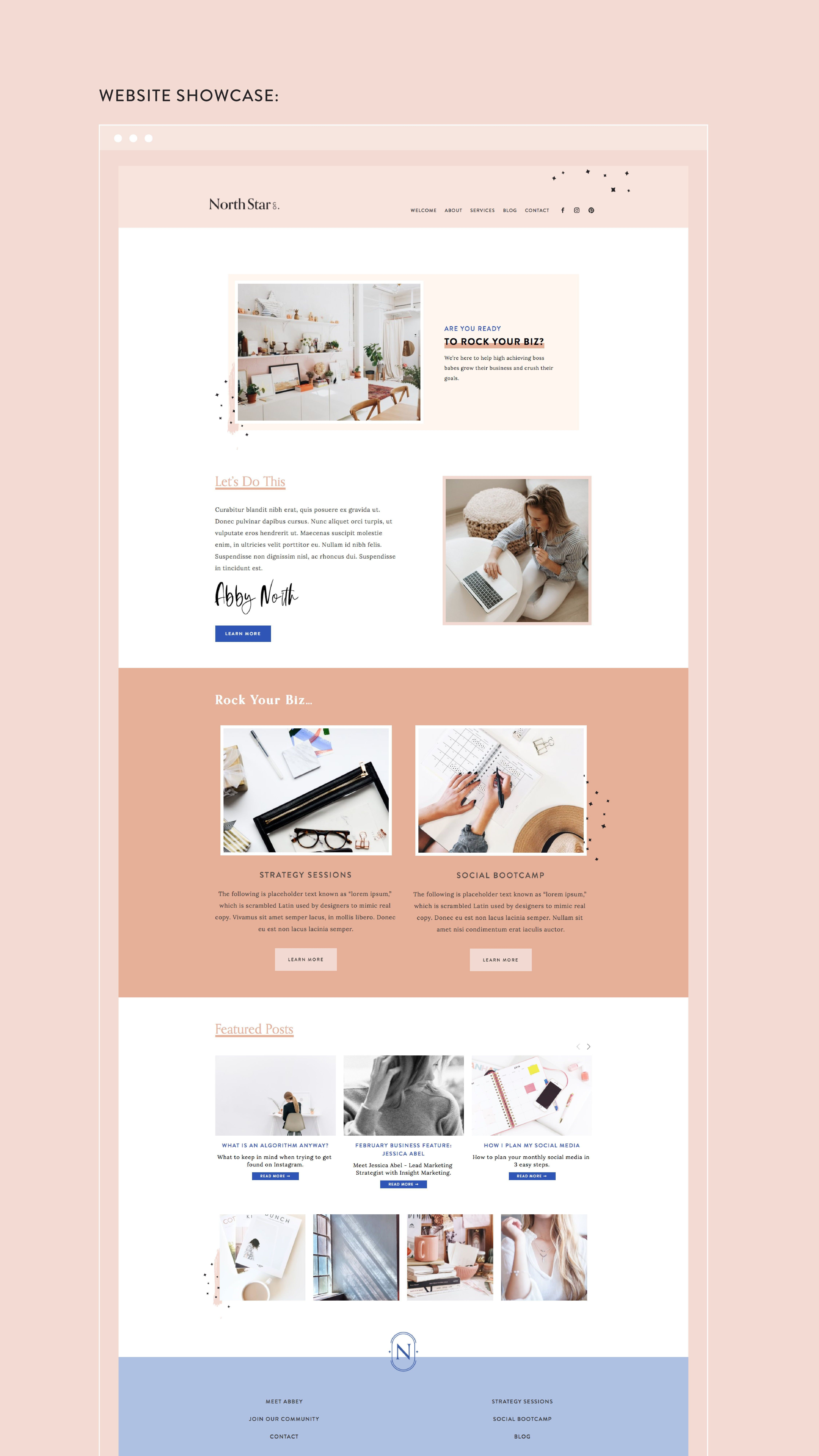 Branding And Website Design Squarespace Template Design Squarespace Website Design Website Design Layout