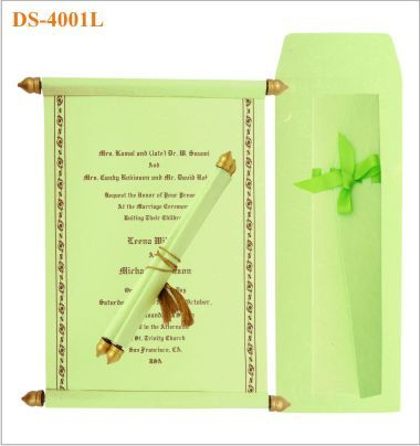 Affordable Scroll Wedding Invitations Indian In Pink Green And Red For Weddings Ethnic