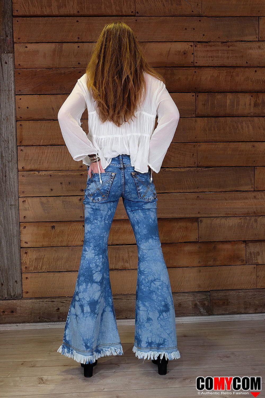 Pin auf Jeans Schlaghosen von hinten Jeans flare pants