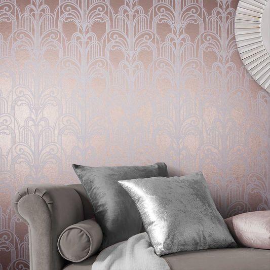 Art Deco Rose Gold Wallpaper Graham Brown Uk Gold Wallpaper Bedroom Art Deco Wallpaper Gold Wallpaper