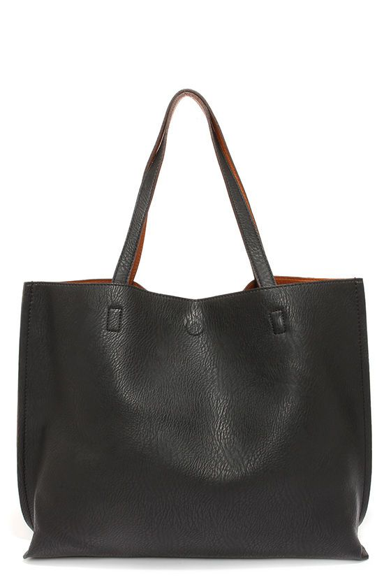 05cd699f4257 Switch it Up Reversible Tan and Black Tote
