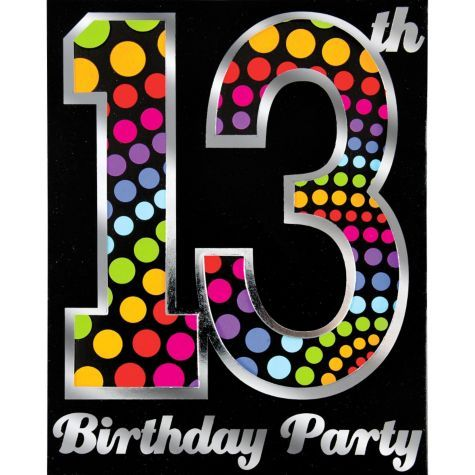 Happy 13th birthday invitation party city new teen on the 13th birthday happy 13th birthday invitation party city stopboris Gallery