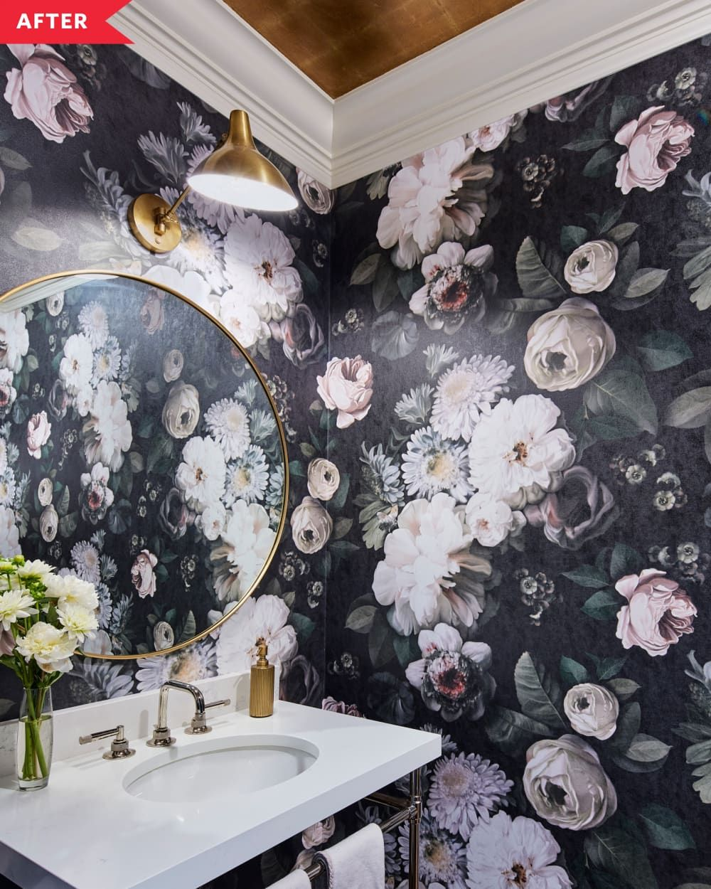 Photo of Before and After: This Powder Room's After Is Full of the Best Kind of Drama