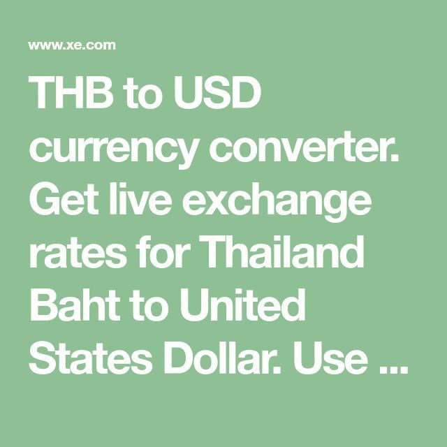 Thb To Usd Currency Converter Get Live